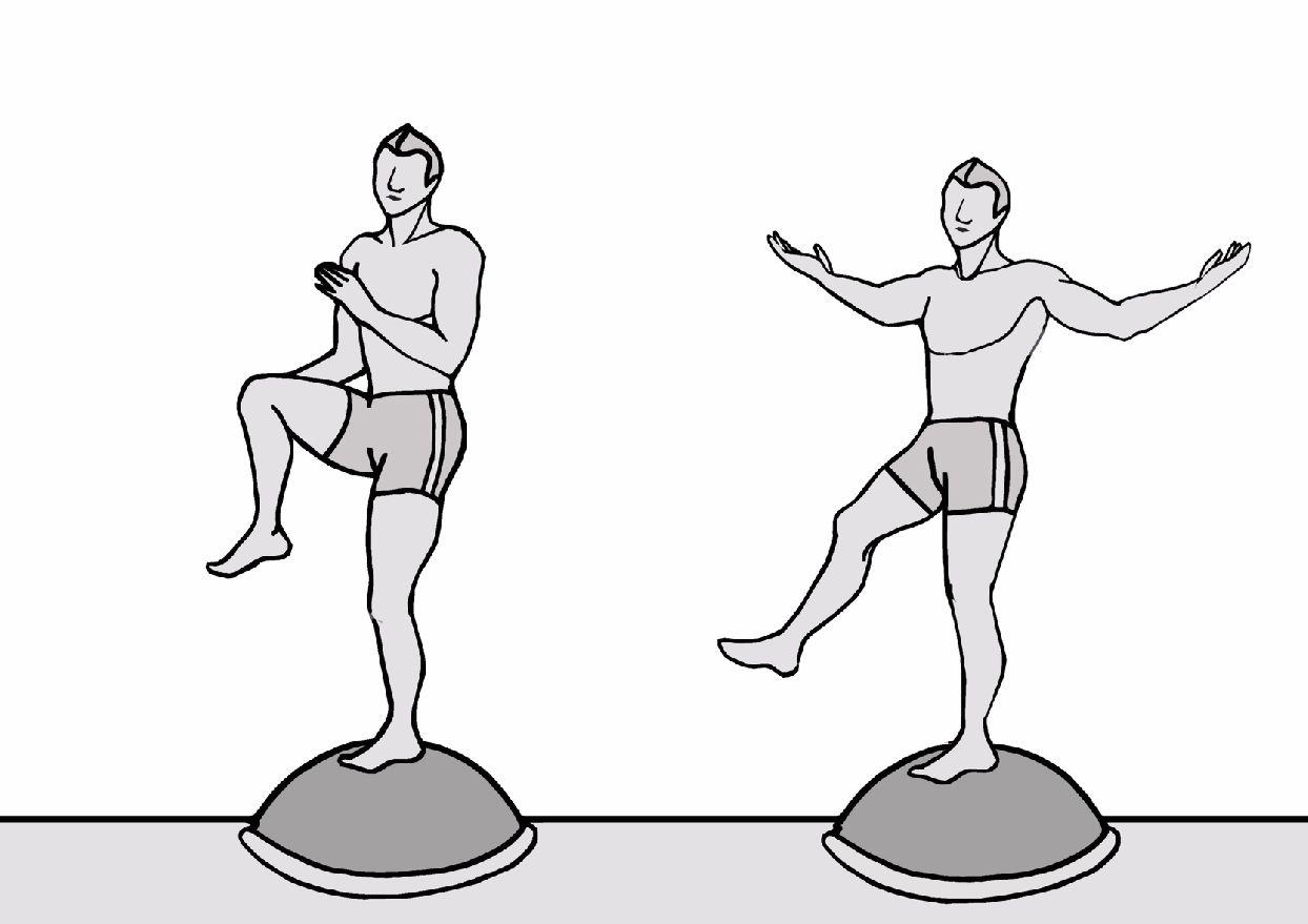 Koordination-Fußstabilisation